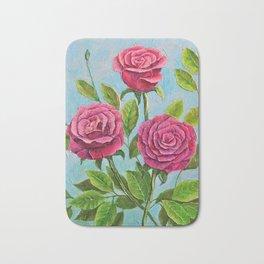 Roses in azure Bath Mat