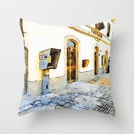 Fognano: railway station Throw Pillow