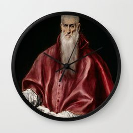 "El Greco (Domenikos Theotokopoulos) ""Saint Jerome as Scholar"" Wall Clock"