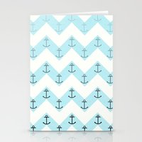 anchors Stationery Cards featuring Anchors by Mercedes Lopez