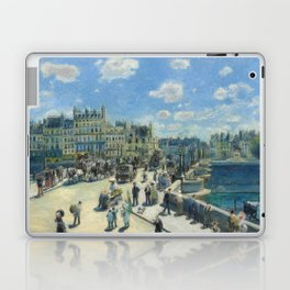 Pont Neuf Paris Painting by Auguste Renoir Laptop & iPad Skin