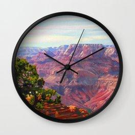 Grandview Grand Canyon by Amanda Martinson Wall Clock