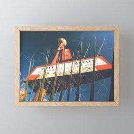 free movies ! Las Vegas vintage Neon Motel sign clock Framed Mini Art Print