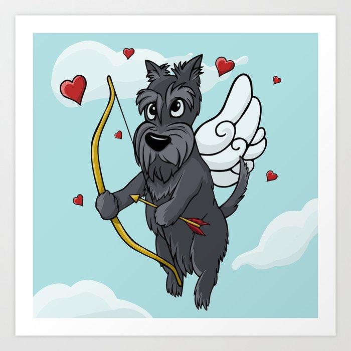 Cupid Scottish Terrier Art Print
