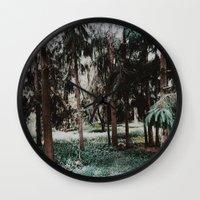 fairies Wall Clocks featuring Forest Fairies by Shannon Sleeman