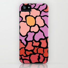 abstract shades of red and pink iPhone Case