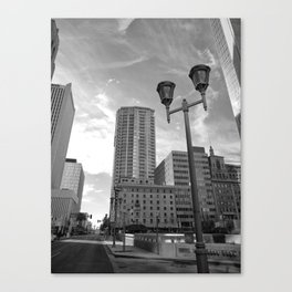 Black & White Downtown Phoenix Canvas Print