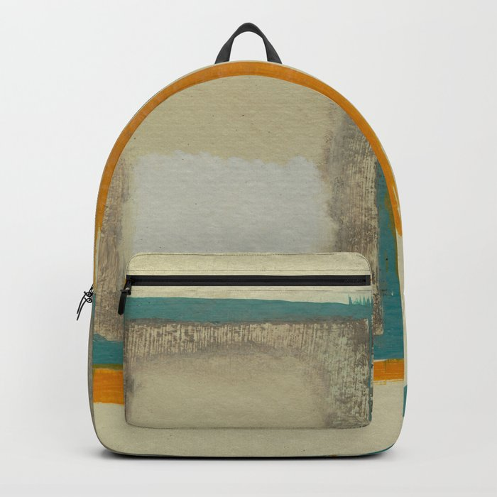 Soft And Bold Rothko Inspired - Modern Art - Teal Blue Orange Beige Backpack