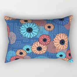 Modern abstract florals with voice and noise Rectangular Pillow