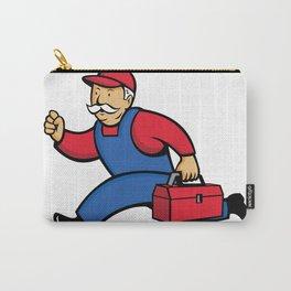 Aircon Technician Running Cartoon Carry-All Pouch