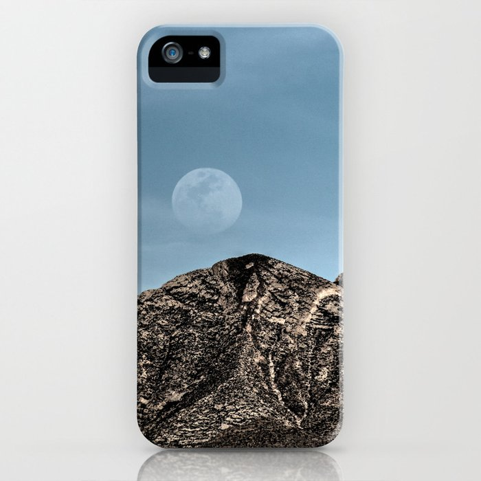 Moon over the Franklin Mountains iPhone Case