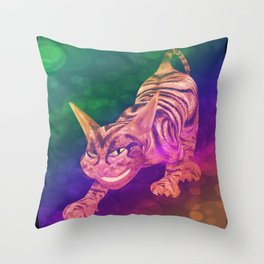 chesire cat Throw Pillow