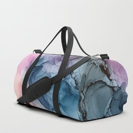 Heavenly Pastels: Original Abstract Ink Painting Duffle Bag