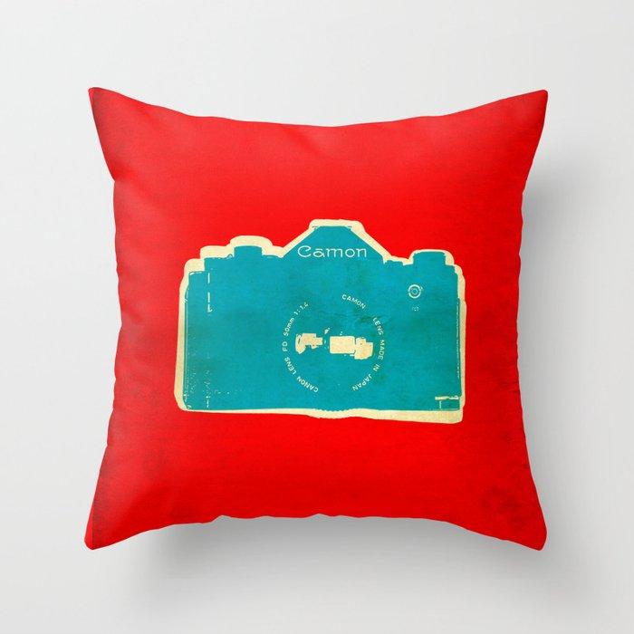 Cam-on Photo Throw Pillow