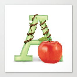 A is for Apple Canvas Print