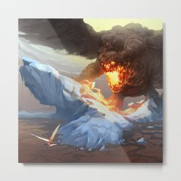 Heat Demon Metal Print