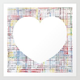 The System - large heart Art Print