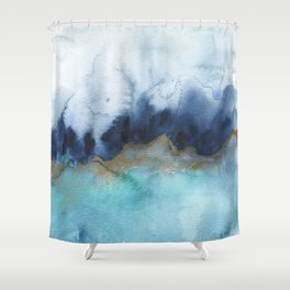 Mystic abstract watercolor Shower Curtain