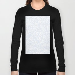 Small Spots - White and Pastel Blue Long Sleeve T-shirt