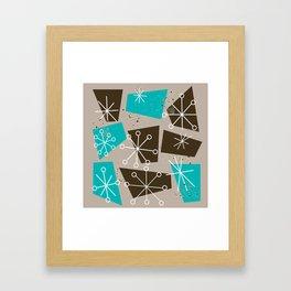 Mid-Century Modern Atomic Inspired Abstract Framed Art Print