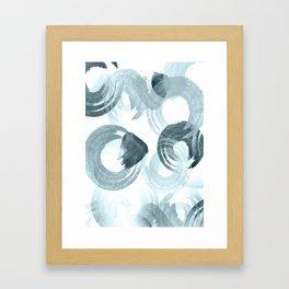Curling Blue Framed Art Print
