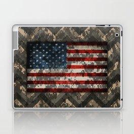 Digital Camo Patriotic Chevrons American Flag Laptop & iPad Skin