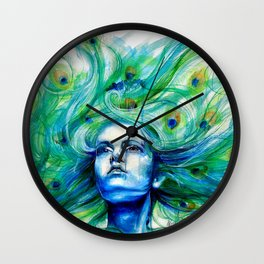 Metamorphosis-peacock Wall Clock