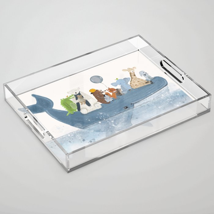 a whale of a time Acrylic Tray