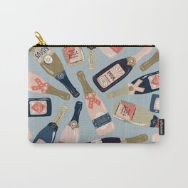 French Champagne Collection – Navy & Coral Carry-All Pouch