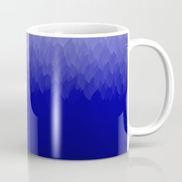 White Blue Black Ombre Flames Coffee Mug