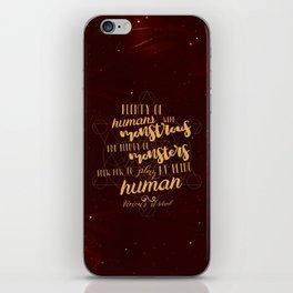 Vicious Quote iPhone Skin