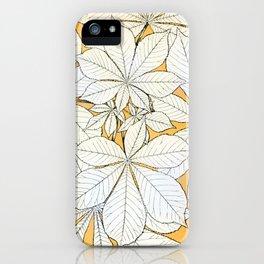 Vintage Horse-Chestnut Leaves iPhone Case