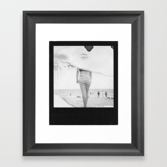 Beach3 BW Framed Art Print
