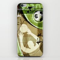 soccer iPhone & iPod Skins featuring Soccer by Robin Curtiss