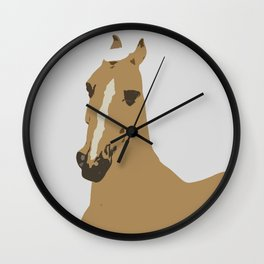 Abstract Palomino Horse Wall Clock