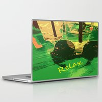 relax Laptop & iPad Skins featuring Relax by Geni