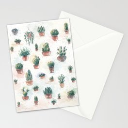 Cacti nd succulents Stationery Cards