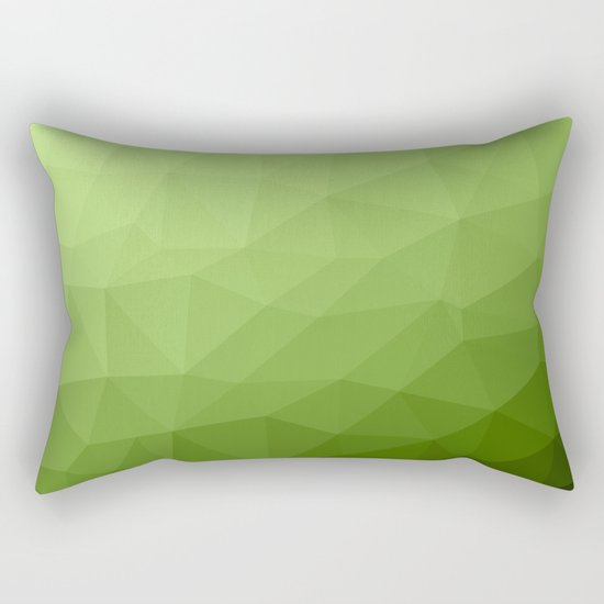 Greenery ombre gradient geometric mesh Rectangular Pillow