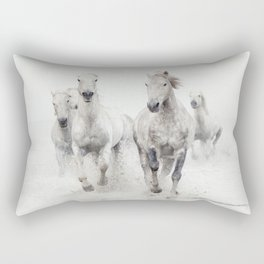 Ghost Riders - Horse Art Rectangular Pillow