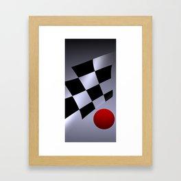 bicubic and red-white-black Framed Art Print