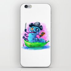 pirate worm iPhone & iPod Skin