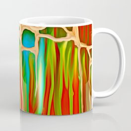 Distant Trees in Orange and Lime Coffee Mug