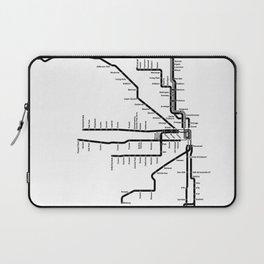 Chicago CTA Map, Chicago Map Art, CTA Art, Chicago Wall Art, Chicago Art, L Train, Art Print Laptop Sleeve