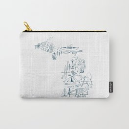 Michigan Up North Collage Carry-All Pouch
