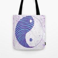 ying yang Tote Bags featuring Ying Yang by Emma Thamer