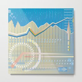 financial background Metal Print