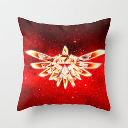 Zelda Red Nebula Throw Pillow