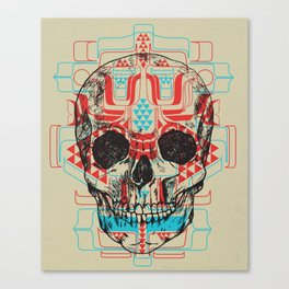 Skull Native Canvas Print