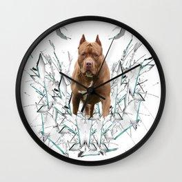 car stickers pitbull gift shirt dog Wall Clock