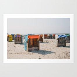 Cabines de plage 4 Art Print